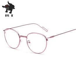 f7ddb497b97 2017 Men Women Round Retro Metal Frame Eyeglass Vintage Lens Glasses Male  Female Circle Plain Mirror Optical Eyeglasses frames UV400 RA102