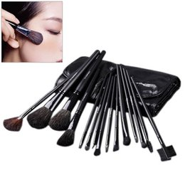 Brush Animals Canada - 15PCS Top Grade Makeup Set Animal Cosmetic Brushes For Beauty