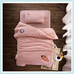 $enCountryForm.capitalKeyWord Canada - Kids Bedding Sets Three Piece Baby Cartoon Bed Suit Children Kindergarten Quilt Cotton Bed Set Pillowcase Quilt Cover Bedding Set