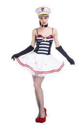 Barato Marinheiro Marinheiro Mulher Vestidos-New Sexy Women Navy Costume Girls Sailor Uniformes Halloween Carnival Fantasias Masquerade Cosplay Party Dress no atacado PS039