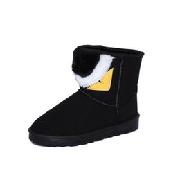 Comfortable Soft Women Shoes UK - Free Shipping Brand Hot Sale Women Snow Boots little monster eyes Soft Comfortable Cotton Snow Boots Warm Winter Boots Woman Shoes