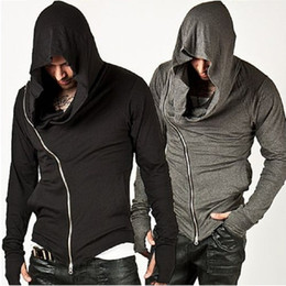 $enCountryForm.capitalKeyWord NZ - Wholesale- Fashion Assassins Creed Hooded Men Hoodies Male Causal Sportswear Outerwear Tracksuit Sweatshirt US Black Gray Size S-XL