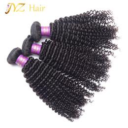 $enCountryForm.capitalKeyWord Canada - JYZ 8-30 Inches Kinky Curly Hair Brazilian Virgin Hair Bundles 3pcs Lot Kinky Curly Human Hair Extensions Weave