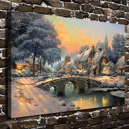 thomas kinkade christmas paintings nz hd printed thomas kinkade oil painting home decoration wall art
