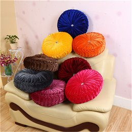 soft plush round chair cushion seat pad for patio home car office floor pillow with insert filling pp cotton futon cushions