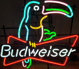 neon wall lamps Australia - Retro TOUCAN Budweiser Crafts Real GLASS TUBE NEON LIGHT BEER BAR PUB Lamp Wall Decor SIGN STORE SIGNAGE