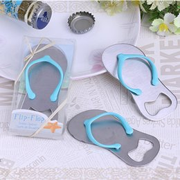 stainless flip flop bottle opener NZ - Creative Novelty Flip Flops Bottle Opener Sandals Shoes Beer Bottle Opener free shipping DHL