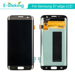 EdgE displays online shopping - LCD For Samsung Galaxy S7 Edge Original Display Touch Screen Digitizer Assembly Replacement with Free DHL Shipping