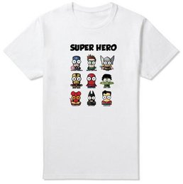 T-shirts Superman Pour Hommes Pas Cher-Comic Super Hero T-shirt Superman Batman Capitaine Amérique le film Flash Men Boy Cosplay T-Shirts Tshirt Geek Tee