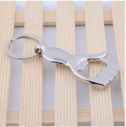 Wholesale baby shoWer key chains online shopping - Wedding Favor Gift Hand Palms Bottle Opener With Keychain Key Chain Ring Baby Shower Supplies Kitchen Tools