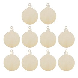 $enCountryForm.capitalKeyWord NZ - 10pcs Wooden Round Bauble Hanging Christmas Tree Blank Decorations Gift Tag Shapes