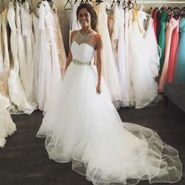 $enCountryForm.capitalKeyWord Canada - Cheap Country Wedding Dresses White High Low Crystal Bridal Gown Sheer Neck Bohemian Wedding Dress Robe De Mariée Western Vestidos De Noiva