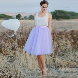 fashion tutu skirts for women NZ - Bohemian Sweet Lavender Color Knee Length Tulle Skirts For Women skirt Fashion Zipper Style Tutu Skirt