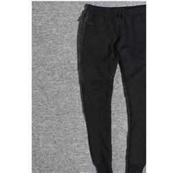 Full Zipper UK - Hot Sale Tech Fleece Sport Pants Space Cotton Trousers Men Tracksuit Bottoms Mens Joggers Tech Fleece Camo Running pants 2 Colors