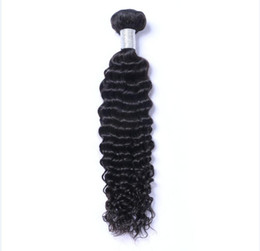 1bundle hair online shopping - Malaysian Virgin Human Hair Deep Wave Curly Unprocessed Remy Hair Weaves Double Wefts g Bundle bundle Can be Dyed Bleached