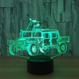 $enCountryForm.capitalKeyWord Canada - New 3D SUV Car Illusion Night Lamp 7 RGB Colorful Lights USB Powered with Battery Bin Touch Button Wholesale Dropshipping