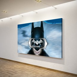 Arkham Figures NZ - 1 Piece Canvas Art Canvas Painting Batman Arkham Mask HD Printed Wall Art Home Decor Poster Pictures for Living Room XA1473C