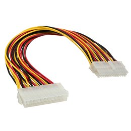 internal ide cable UK - Wholesale- Top Quality 24 Pin Male to 24 Pin Female Internal PC PSU Power Adapter ATX Extension Cable Connector