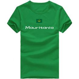 T Sport Racing Canada - Mauritania T shirt Race sport short sleeve Cheer champion tees Nation flag clothing Unisex cotton Tshirt