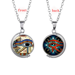 $enCountryForm.capitalKeyWord Canada - The Eye Of Horus Egyptian Sun God Symbol Pendant Necklace Egypt Eye Amulet Hieroglyphics Jewelry For Women And Men