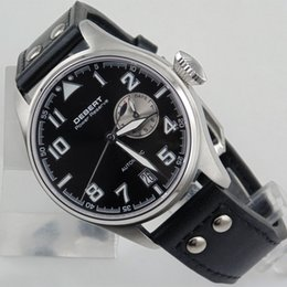 Discount stainless steel power 2099 Debert 42mm Black Dial Sapphire Glass Power Reserve Automatic Men's Watch