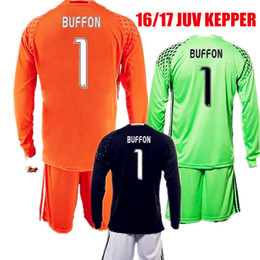 on sale bef49 26cde best price italy 1 buffon black long sleeves goalkeeper ...