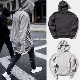 GOOD Quality 2017 hoodie men sweatshirts OVERSIZE US size hoodie hip hop  fashion justin bieber FEAR OF GOD Black grey khaki