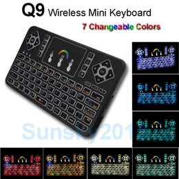 $enCountryForm.capitalKeyWord NZ - Backlight Wireless Mini Keyboard 7 Changeable Colors 2.4G Fly Air Mouse Q9 Remote Control for Android TV Box MXQ A95X X96 IPTV Xbox Gamepad