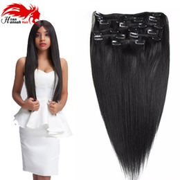 $enCountryForm.capitalKeyWord Canada - Clip in Human Hair Extensions 100% Real Remy Thick True Double Weft Full Head 8 Pieces Straight silky
