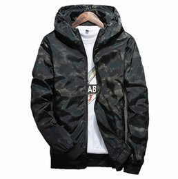 Waterproof camouflage clothing online shopping - Spring Autumn Mens Casual Camouflage Hoodie Jacket Men Waterproof Clothes Men s Windbreaker Coat Male Outwear XL