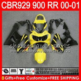 $enCountryForm.capitalKeyWord Australia - Body For HONDA CBR 929RR CBR900RR CBR929RR 00 01 CBR 900RR 67NO9 Yellow black CBR929 RR CBR900 RR CBR 929 RR 2000 2001 Fairing kit 8Gifts