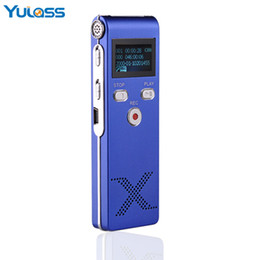 Chinese  Wholesale- Yulass USB Digital Voice Recorder Professional 4GB Blue Portable Audio Recording Device With MP3 Player REC manufacturers
