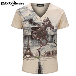 mens long sleeve summer tees Australia - t shirt 2016 Men t shirt Fashion pattern V Neck Short Sleeve poleras hombre Summer Fitness Top Tees mens t-shirts