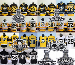 92734ed0d ... shop stitched nhl jersey 2017 stanley cup final 58 kris letang jerseys  hockey champions 50th pittsburgh