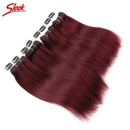 Sleek hair extensions online sleek hair extensions wholesale for rebecca wholesale yaki straight brazilian virgin hair extensions 4pcs set 100 unprocessed human hair 99j free shipping 190g sleek brand pmusecretfo Gallery
