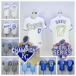 huge discount cee3b 1b95c authentic kansas city royals 17 wade davis gray away ...