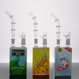 Liquid bongs online shopping - New arrival hitman Mini Liquid glass bongs Cereal Box oil Rig mm joint with dome and nail