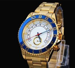 Wholesale Famous design Fashion Men Big Watch Gold silver Stainless steel High Quality Male Quartz watches man Wristwatch Dial Date Display watch mce