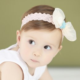 Wholesale Hair Nets NZ - Fairy Net Yarn Headbands 4 Colors Bowtie Hair Bows Baby Girls Boutique Hair Accessories Birthday Party Gifts