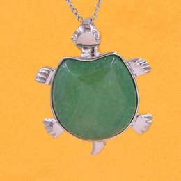 $enCountryForm.capitalKeyWord Australia - Tortoise Turtle Pendants Necklace Chain Natural Stone Pendulum Jewelry Amethyst Lapis Lazuli Opal etc Mascot Reiki Charms Amulet Jewelry