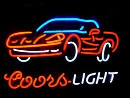 $enCountryForm.capitalKeyWord NZ - Fashion Handcraft COORS LIGHT CAR BAR Real Glass Tubes Beer Bar Pub Display neon sign 19x15!!!Best Offer!