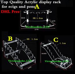 cd45fc81e87 DHL Free Quality Acrylic e cig display clear stand shelf holder vape car  rack for vapor ego battery e pipe ecig vaporizer pen e-cigarette