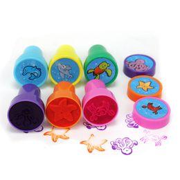 $enCountryForm.capitalKeyWord Canada - 6pcs Cute Mini Ocean Animals Design Round Stamps for DIY Handmade Scrapbooking Craft Self-Inking Stampers Kids Children Toys