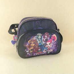 Red Messenger Bag For School Canada - Wholesale- Monster High women's shoulder bag for girls,ladies bag,messenger school bags for youth