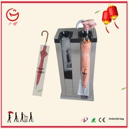 steel for umbrella Canada - 2 hole stainless steel wet umbrella packing machine for office lobby