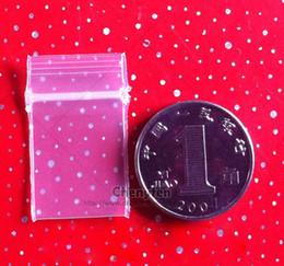 "Mini Pe Bags NZ - Tiny Seal Bag 1.5x2.5cm 500pcs Clear Resealable Plastic Bags 0.6""x1""micro Pe Zip Lock Bag Mini Baggies 8mil"