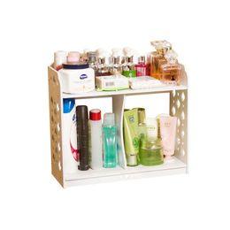 makeup organizer wood. thicken wood bedroom jewelry makeup organizer cosmetic storage boxes living room sundries racks desktop shelf