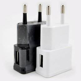 Cell Phone Samsung Galaxy S6 Canada - Universal 5V 2A Travel Adapter US EU Plug USB Wall Charger For Samsung Galaxy S6 S5 Note 2 3 LG Cell Phone