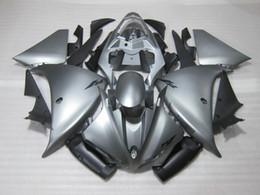 R1 11 Canada - Injection mold plastic fairing kit for Yamaha YZF R1 09 10 11-14 silver black fairings set YZF R1 2009-2014 OY05