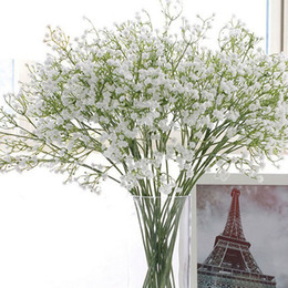 fake bridal bouquets UK - Elegant Gypsophila Baby's Breath Artificial Fake Silk Flowers Bridal Bridesmaid Flower Bouquet Plant Home Wedding Decoration ZA1848